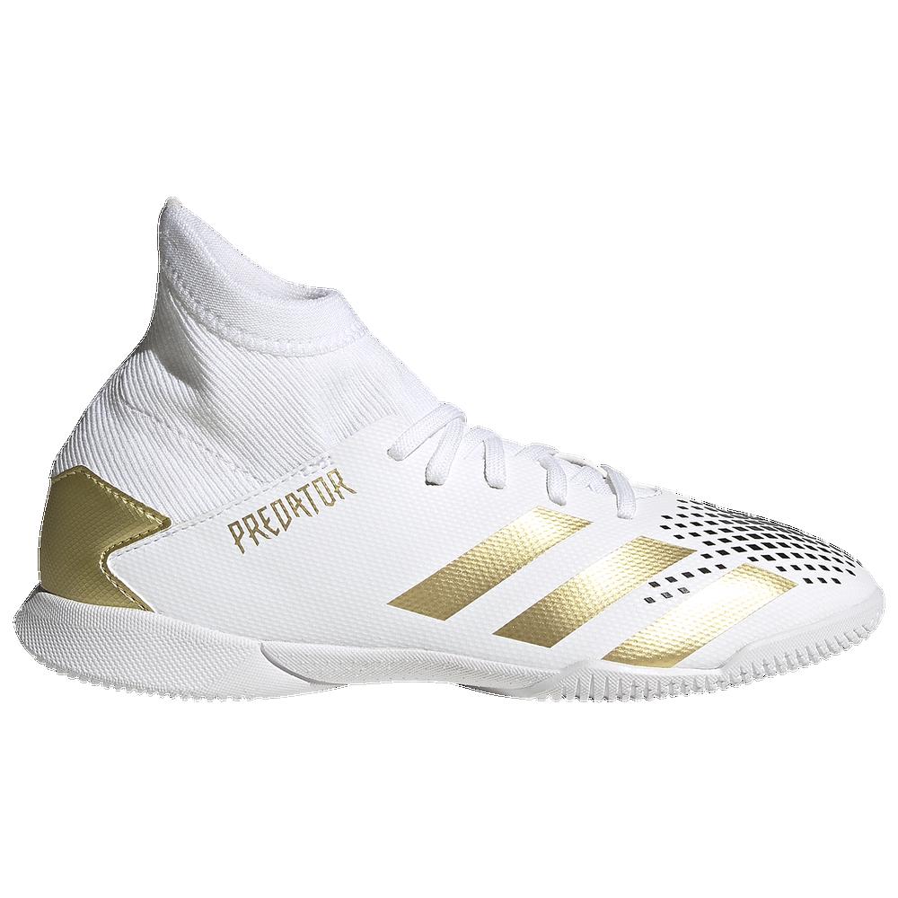 adidas Predator 20.3 IN - Boys Grade School / Ftwr White/Gold Metallic/Core Black
