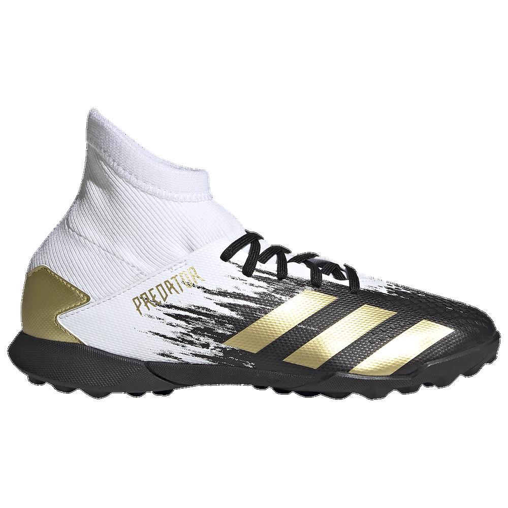 adidas Predator 20.3 TF - Boys Grade School / Ftwr White/Gold Metallic/Core Black