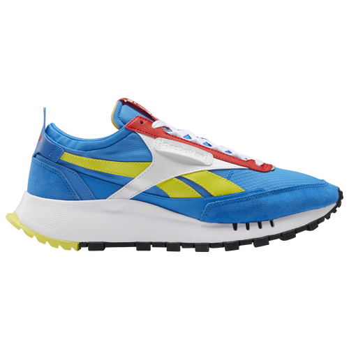 Reebok Men's Classic Legacy Running Sneakers From Finish Line In Blue/blue/red