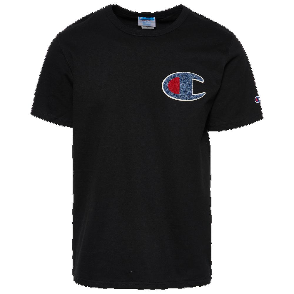 Champion Heritage Chenille Logo T-Shirt - Mens / Black