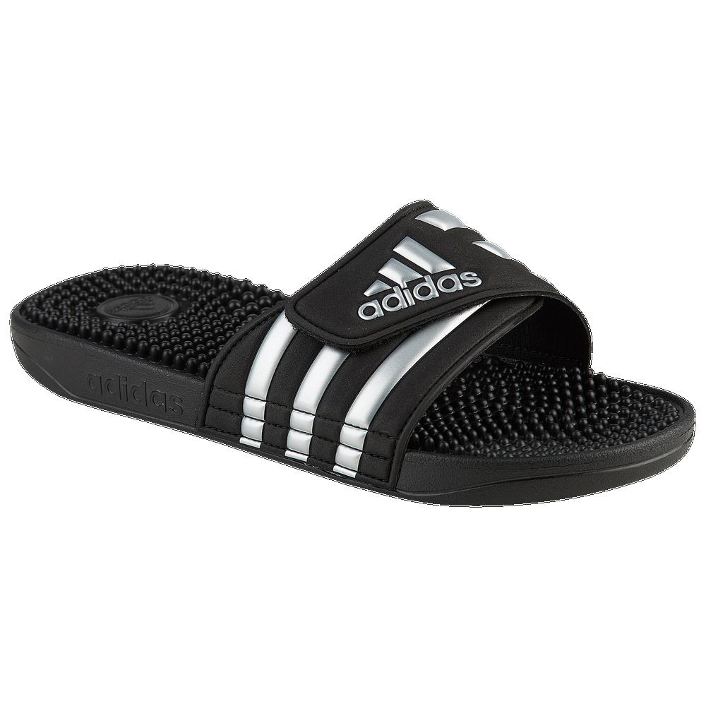 adidas Adissage Slide - Womens / Core Black/Silver Metallic/Core Black