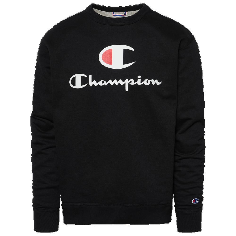 Champion Powerblend Big Logo Crew - Mens / Black