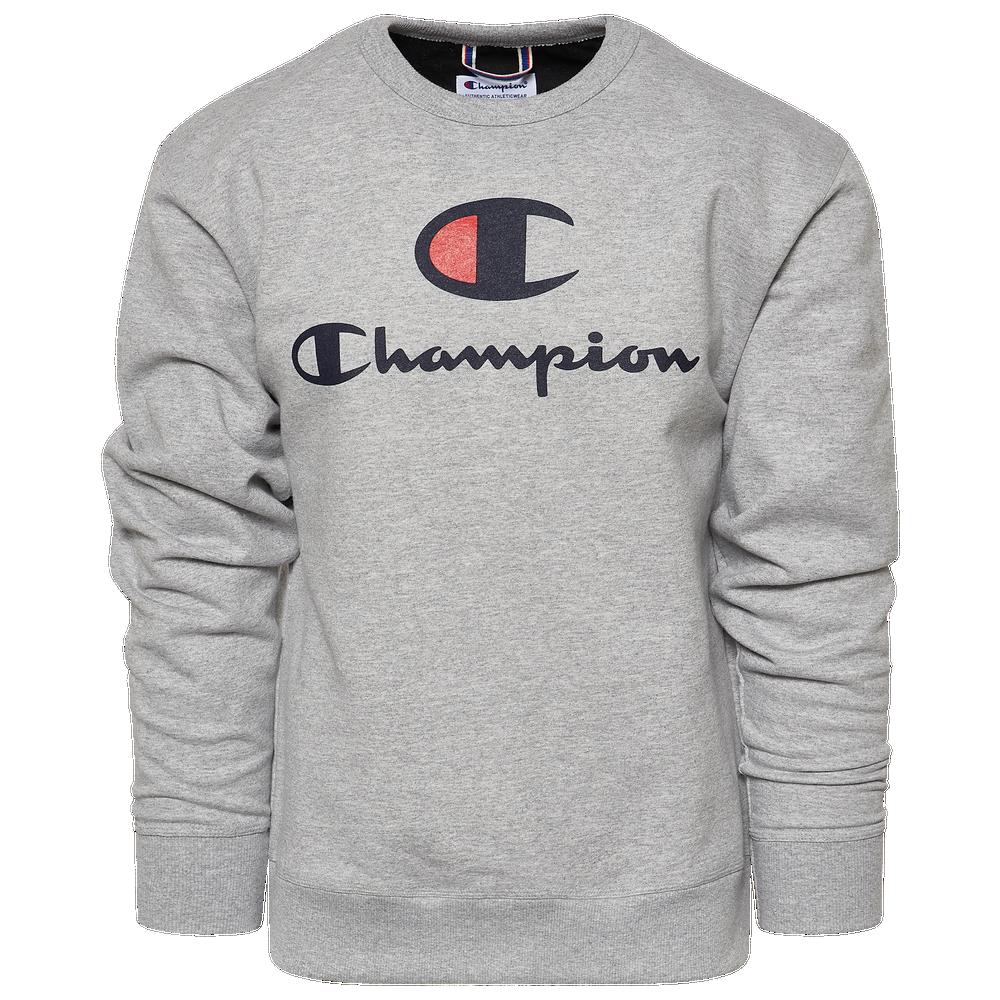 Champion Powerblend Big Logo Crew - Mens / Oxford Grey