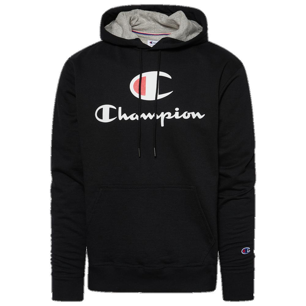 Champion Powerblend Big Logo Hoodie - Mens / Black