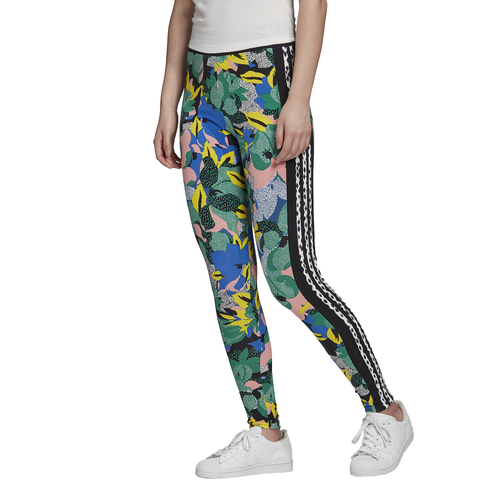 Whimsy meets sporty to bring you comfortable tights from adidas Originals and HER Studio London. High-waisted fit creates a streamlined silhouette. Features bold floral designs and polka dots. Includes iconic adidas logo graphics. 93% cotton/7% elastane. Imported.