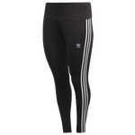adidas Originals Plus Size 3 Stripe Tights - Women's
