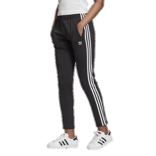 Adidas Originals Plus 3 Stripe Track Pant-black In Black/white