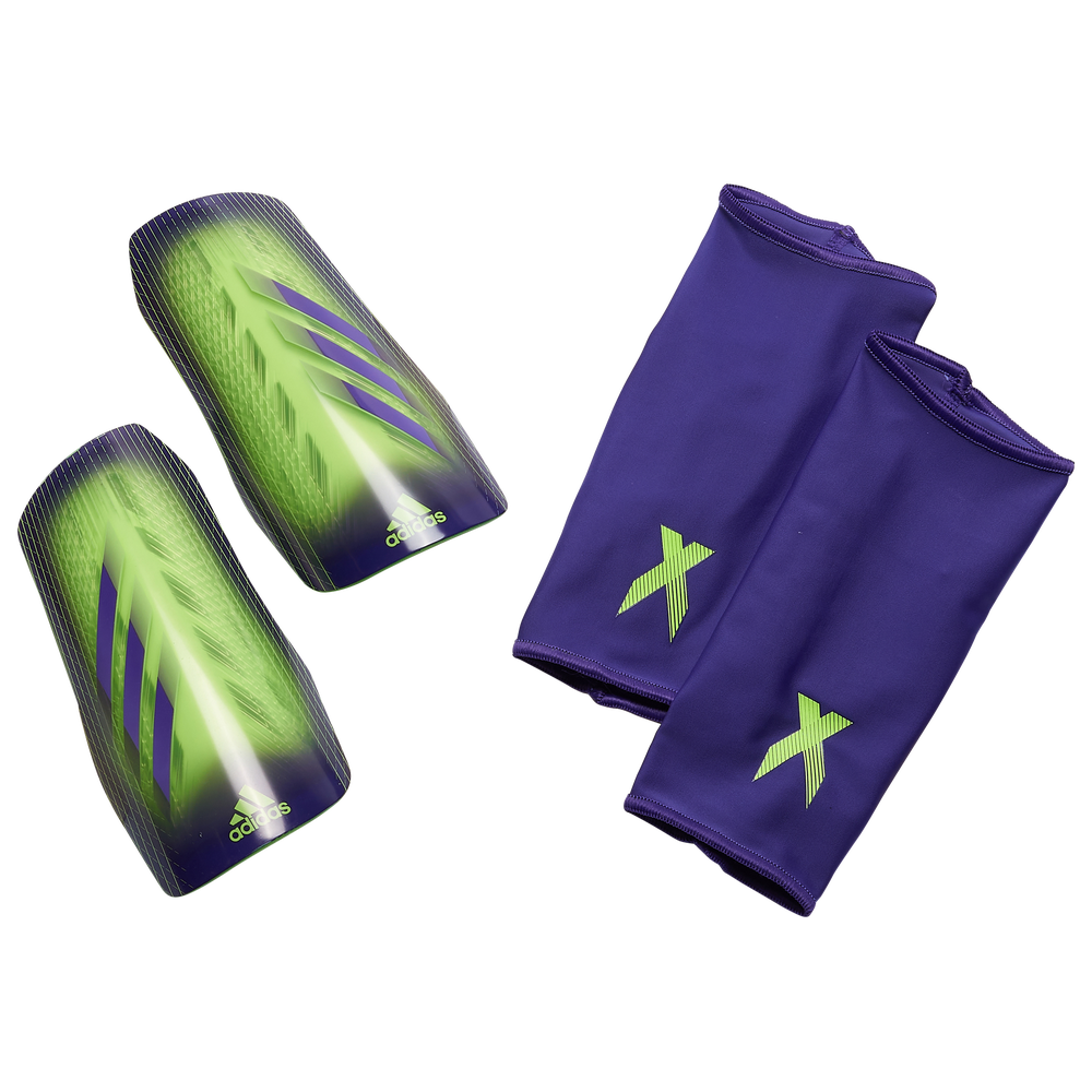 adidas X League Shin Guards - Adult / Signal Green/Energy Ink/Solar Green