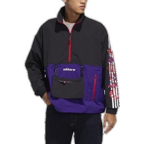 Adidas Originals Trenchcoats MENS ADIDAS ORIGINALS CNY 1/2 ZIP WINDBREAKER
