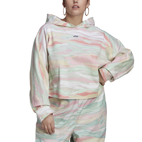 Adidas Originals Cottons WOMENS ADIDAS CROPPED HOODIE PLUS SIZE