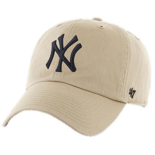 47 brand male new york yankees 47 brand mlb clean up cap mens khaki