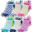 CSG 6 Pack Stripe Tab No Show Socks