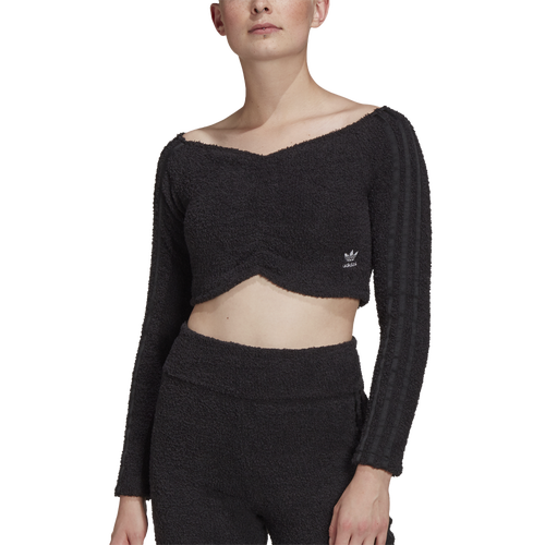 ADIDAS ORIGINALS WOMENS ADIDAS ORIGINALS OFF SHOULDER CROP TOP