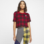 Nike Plaid Futura Crop T-Shirt - Women's
