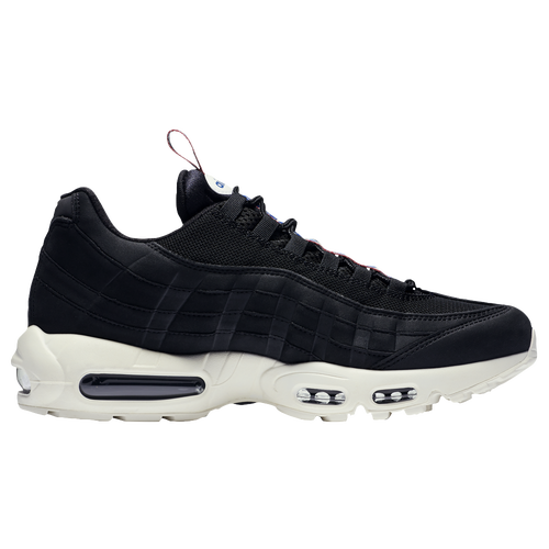 New Nike Air Max 95 - Mens - Black/Sail/Gym Red