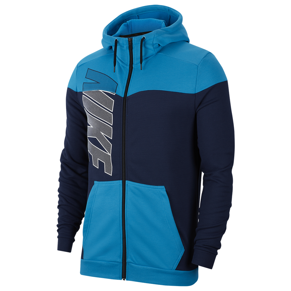 Nike Dry Fleece Full-Zip Hoodie - Mens / Laser Blue/Midnight Navy | Project X