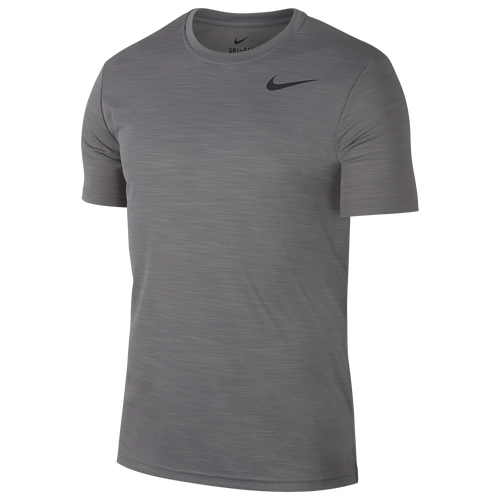 Nike Breathe Men's Short-sleeve Training Top (charcoal Heather) - Clearance Sale In Charcoal Heather,black