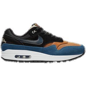 air max 1 photo blue total orange on feet