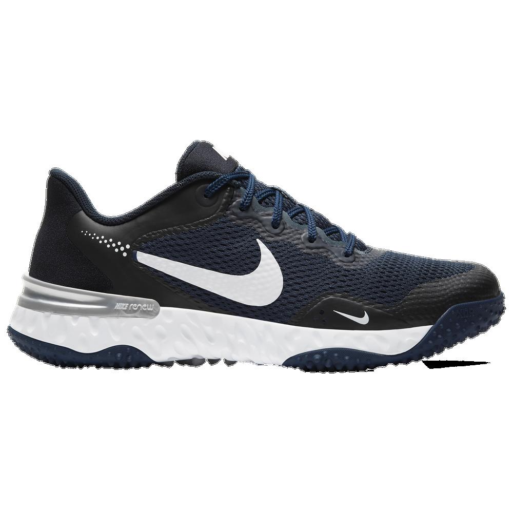 Nike Alpha Huarache Elite 3 Turf - Mens / College Navy/White/Light Smoke Grey