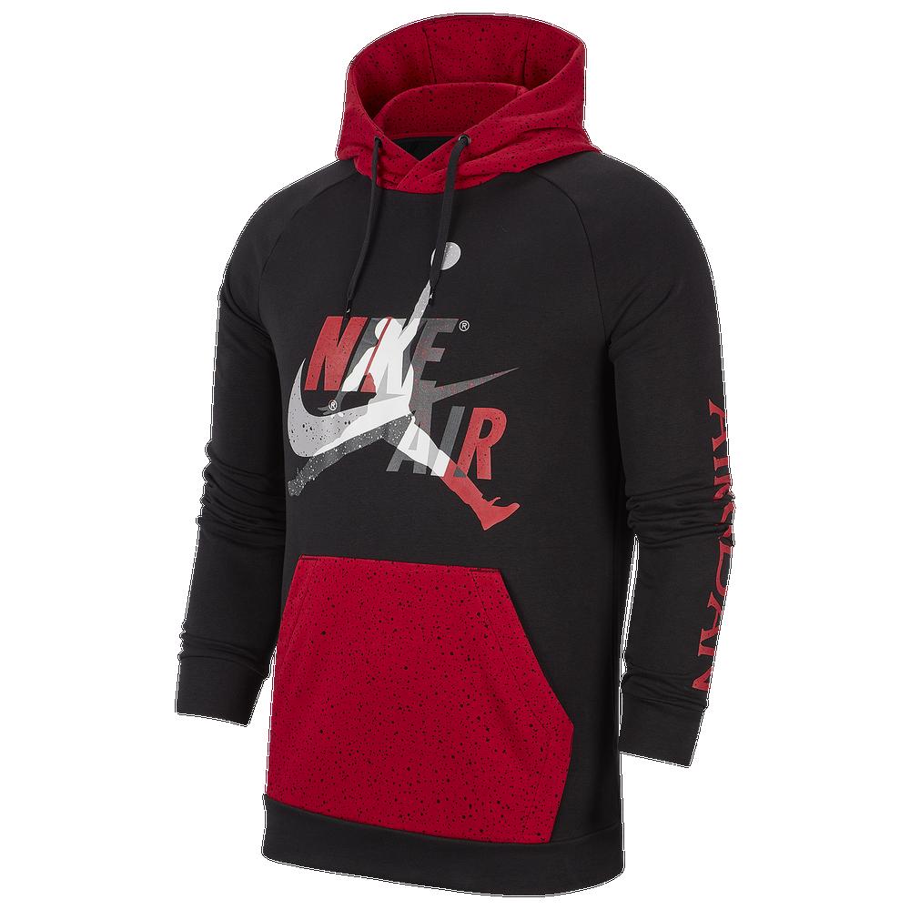 Jordan Jumpman Classics Hoodie - Mens / Black/Gym Red