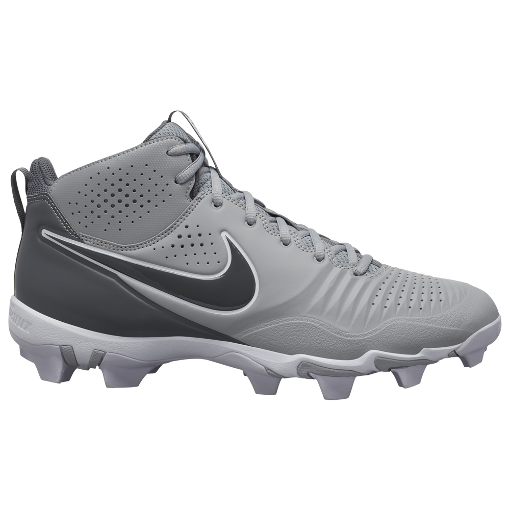 Nike Alpha Huarache 3 Varsity Mid Keystone - Mens / Light Smoke Grey/Iron Grey/Smoke Grey