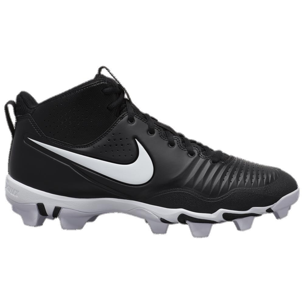 Nike Alpha Huarache 3 Varsity Mid Keystone - Mens / Black/White/Black