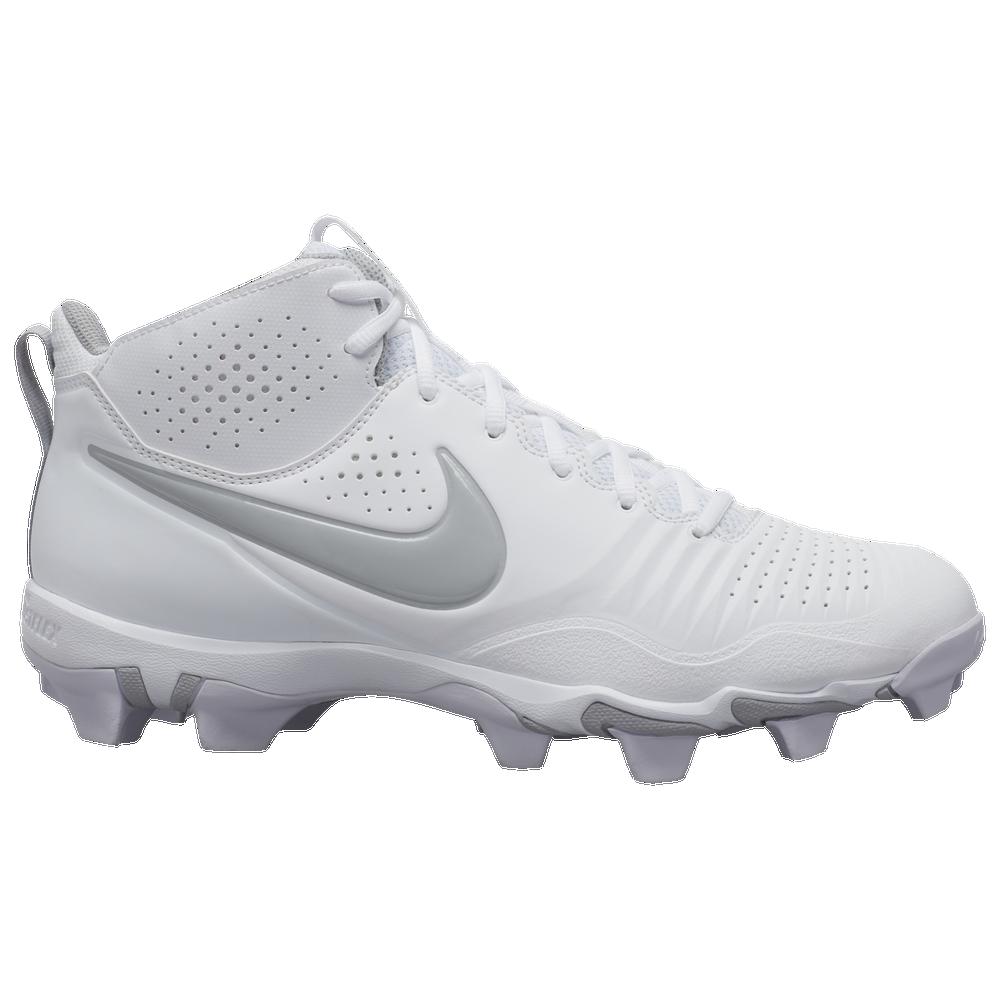 Nike Alpha Huarache 3 Varsity Mid Keystone - Mens / White/Light Smoke Grey/White