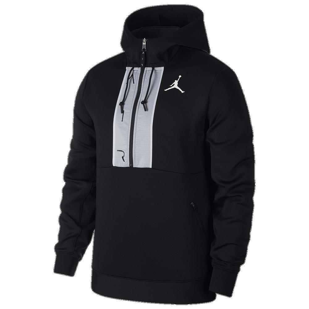 Jordan Air Fleece Pullover Hoodie - Mens / Black/Black/White