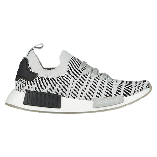 New Boys Adidas Originals Nmd R1 Primeknit - Grade School - Grey/Grey/Black