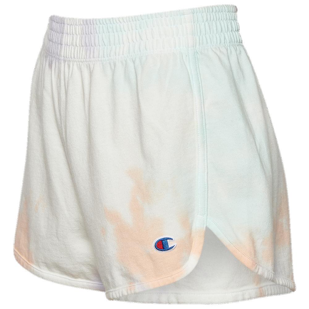 Champion Reverse Weave Cloud Dye Shorts - Womens / Cloud Dye White