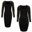 La La Anthony Long Sleeve Mesh Dress - Extended Sizing - Women's