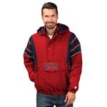 Starter MLB The Impact 1/2 Zip Hooded Jacket - Men's