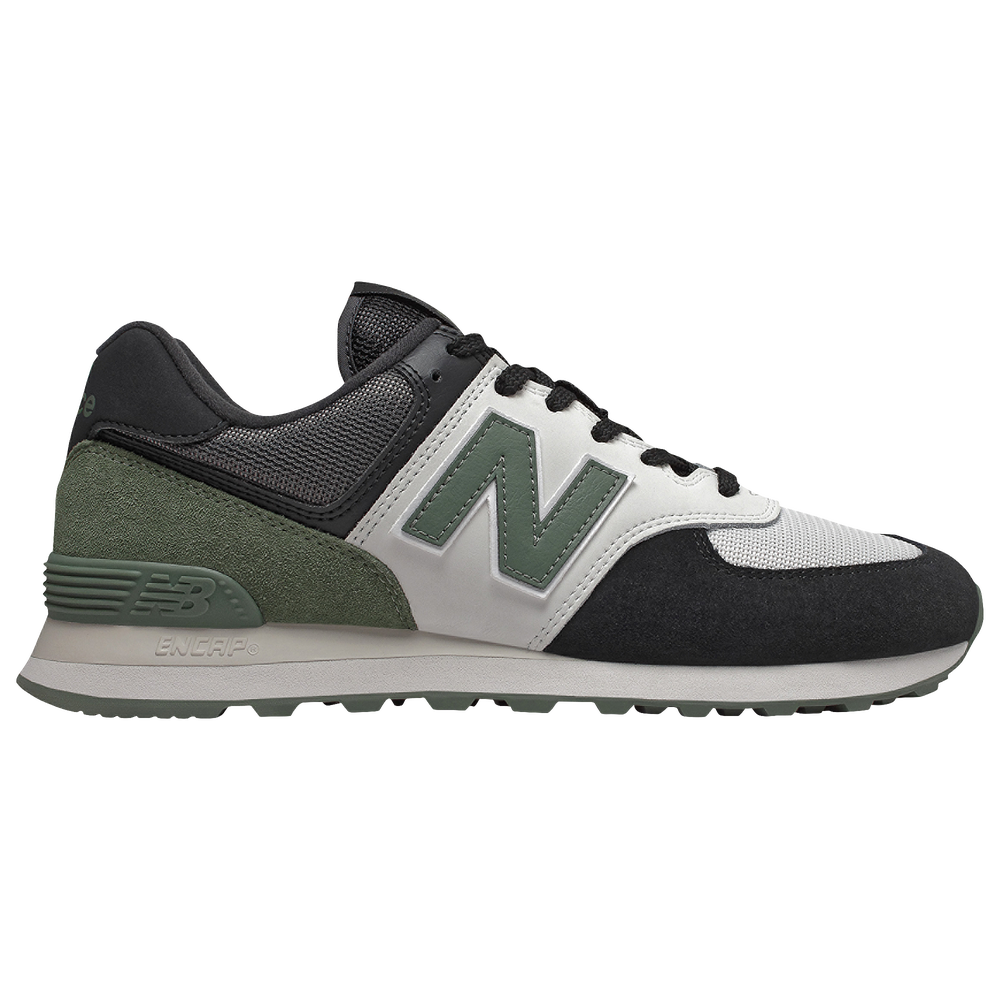 New Balance 574 - Mens / Black/Green/Green
