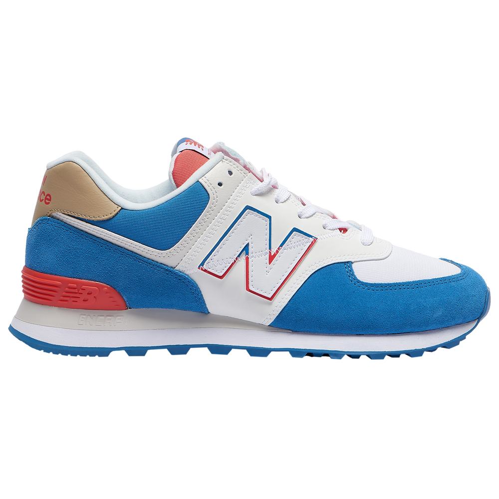 New Balance 574 - Mens / Mako Blue/Toro Red
