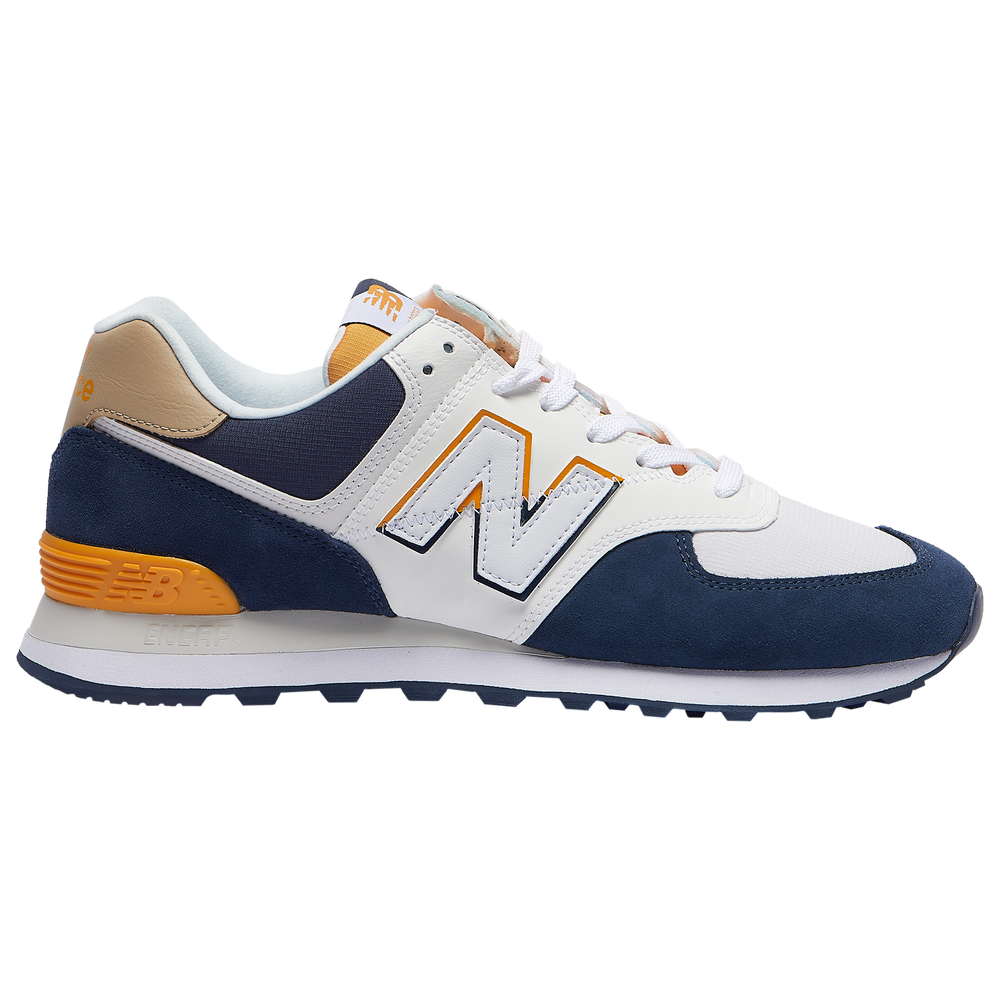 New Balance 574 - Mens / Natural Indigo/Chromatic Yellow