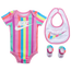 Nike Rainbow Stripe Bib, Bodysuit 3 Pc Set - Girls' Infant