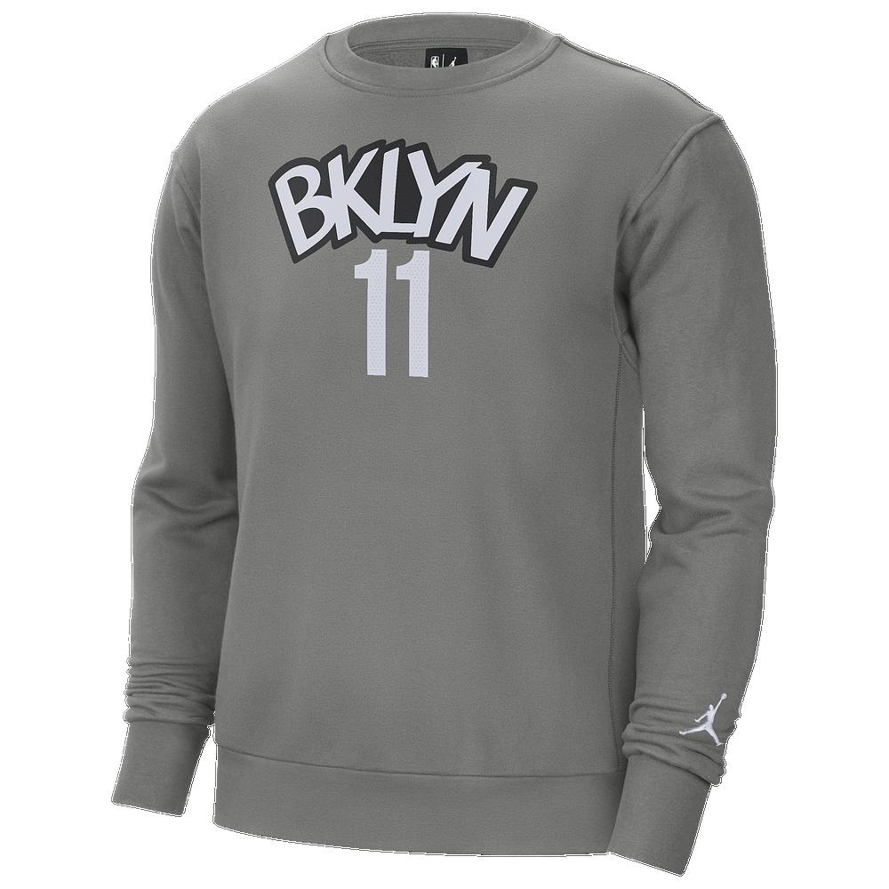 Jordan NBA Statement PO Fleece Crew - Mens / Kyrie Irving | Dark Steel/White