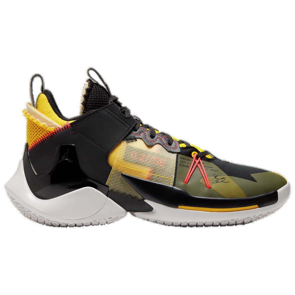 Jordan Why Not Zer0.2 SE - Mens / Black/Crimson/Yellow/Grey