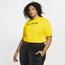 Nike Plus Size Python Short Sleeve Crop Top - Women's