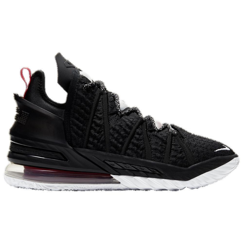 Nike LeBron 18 - Mens / Lebron James | Black/White/University Red