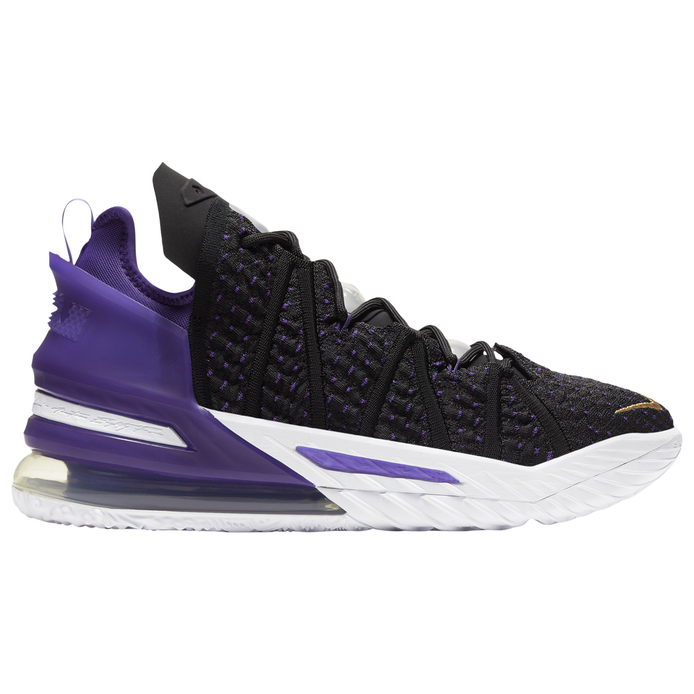 Nike LeBron 18 - Mens / Lebron James | Black/Metallic Gold/Court Purple