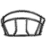 Rawlings R16 Junior Batting Helmet Facemask - Men's