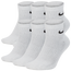Nike 6 Pack Dri-FIT Cotton Quarter Socks - Men's