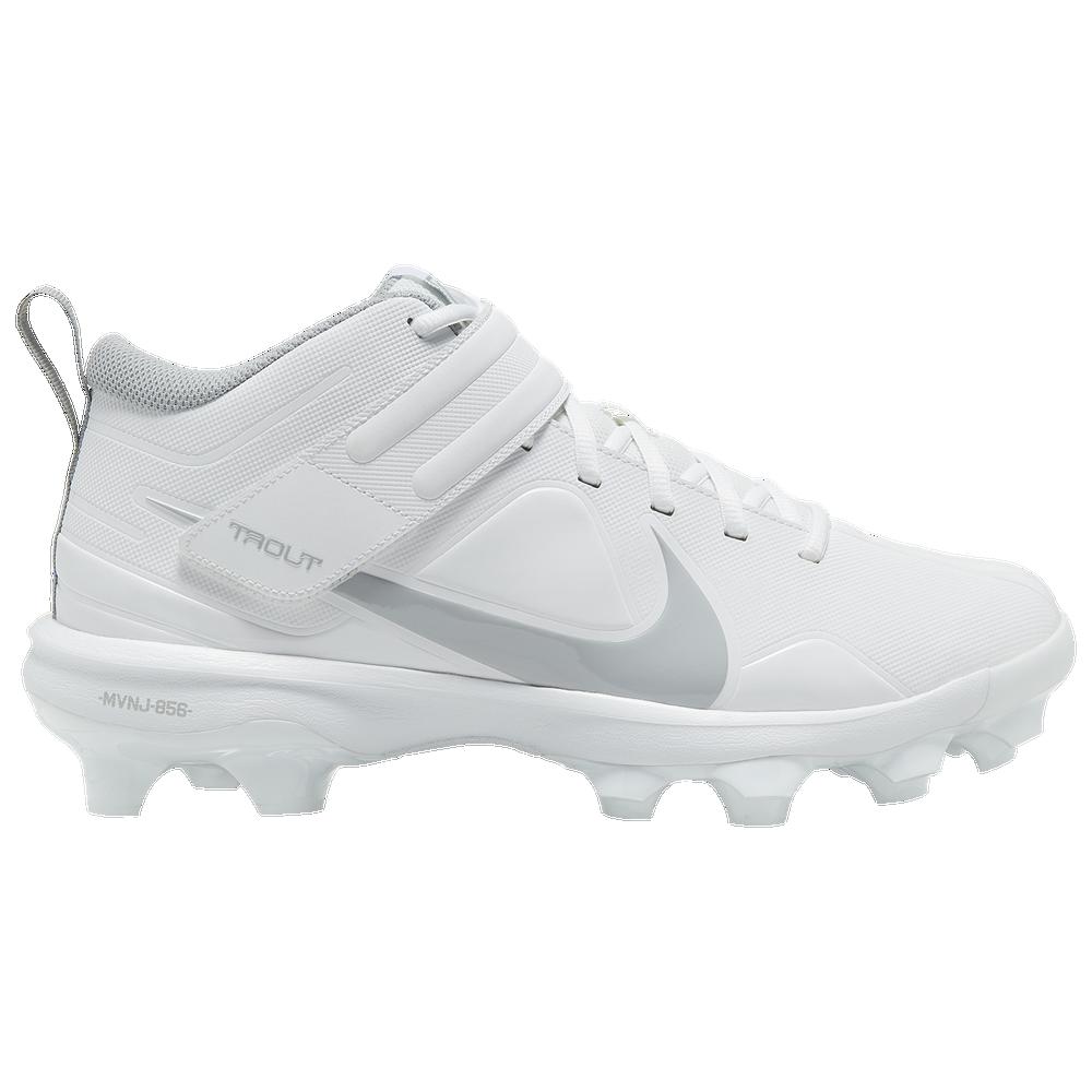 Nike Force Trout 7 Pro MCS - Mens / White/Lt Smoke Grey/White
