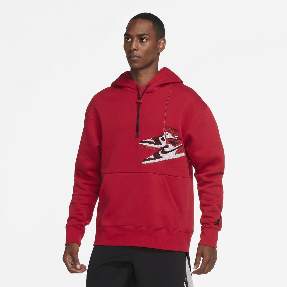 Jordan Jumpman Holiday Hoodie - Mens / Gym Red/Red