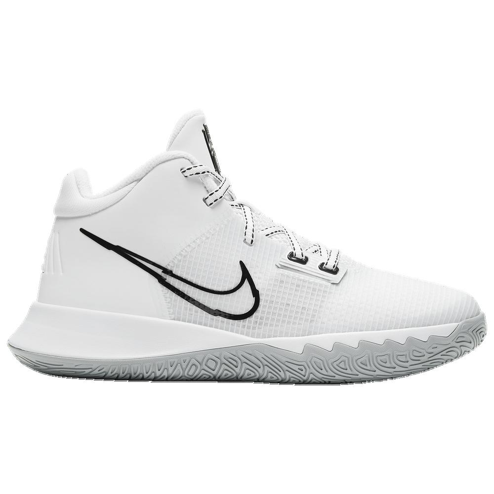 Nike Kyrie Flytrap IV - Boys Grade School / White/Black/Metallic Silver