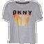 Dkny Ombre Logo Crop T-Shirt - Women's