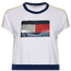 Tommy Hilfiger Crop Flag Logo Short Sleeve Sweatshirt - Women's