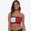 Tommy Hilfiger Swim Solid Logo Bandeau Top - Women's