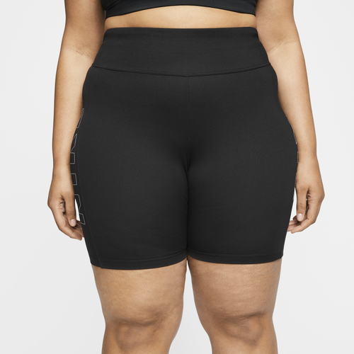 Nike Plus Size Air Bike Shorts In Black/black